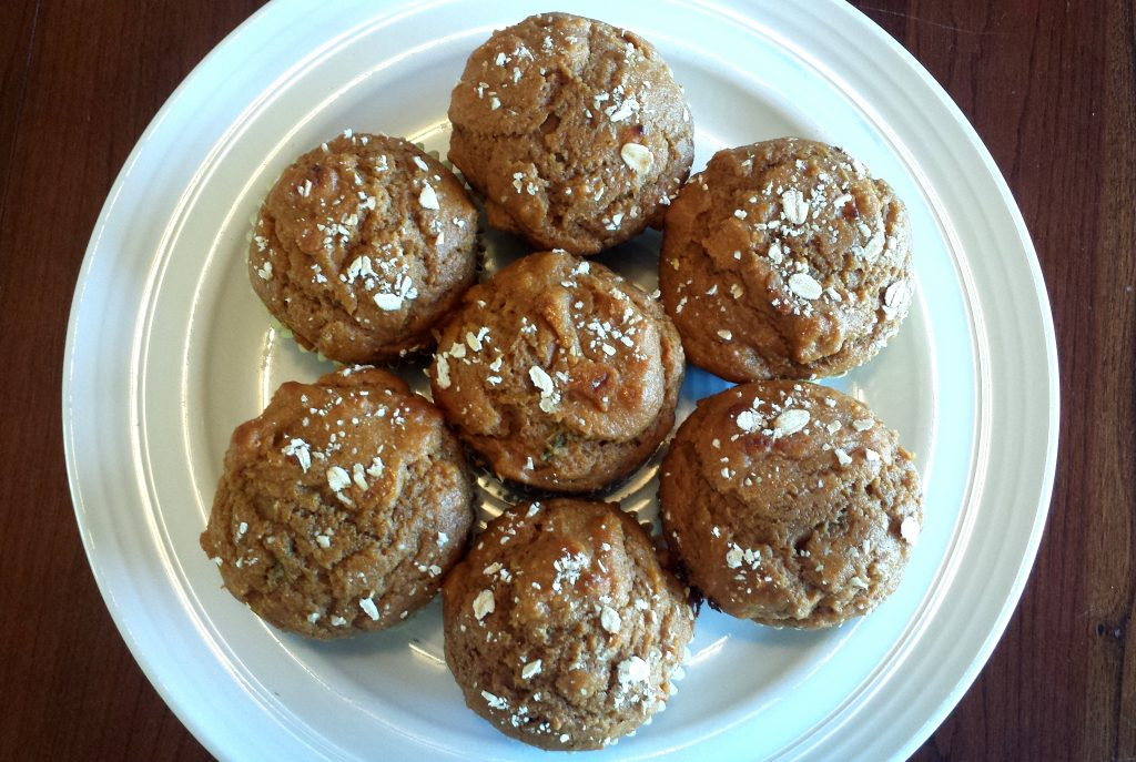 healthy whole grain sweet potato muffins